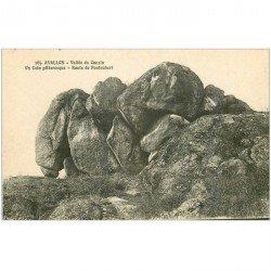 carte postale ancienne DOLMENS ET MENHIRS ET PIERRES. 89 Avallon Vallée du Cousin Route de Pontaubert