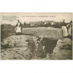 carte postale ancienne DOLMENS ET MENHIRS. 56 Locmariaquer. Autels des Druides