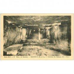 carte postale ancienne Dolmens et Menhirs. BAGNEUX. L'Intérieur