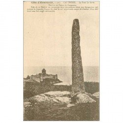 carte postale ancienne Dolmens et Menhirs. CAP FREHEL Pierre Gargantua Fort La Latte