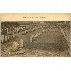 carte postale ancienne Dolmens et Menhirs. CARNAC. Alignements du Ménec