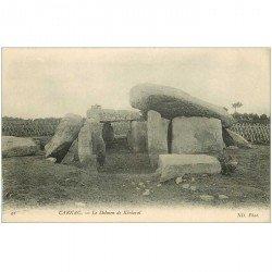 carte postale ancienne Dolmens et Menhirs. CARNAC. Le Dolmen de Kériaval