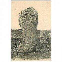 carte postale ancienne Dolmens et Menhirs. CARNAC. Le Géant du Ménec