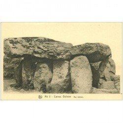 carte postale ancienne Dolmens et Menhirs. CARNAC. Vue latérale