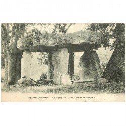 carte postale ancienne Dolmens et Menhirs. DRAGUIGNAN. Pierre de la Fée Druidique