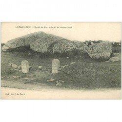carte postale ancienne Dolmens et Menhirs. LOCMARIAQUER. Men er Groh