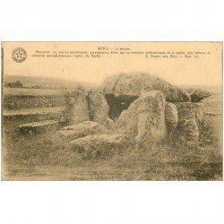 carte postale ancienne Dolmens et Menhirs. WERIS. Dolmen. Tableau d'honneur pour élève en Belgique