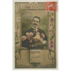 carte postale ancienne BONNE FETE à Sainte Emilienne 1908