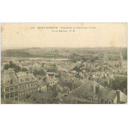 carte postale ancienne 02 SAINT-QUENTIN. Faubourg d'Isle 1909