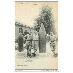 carte postale ancienne CANON et OBUS. Camp de Mailly. Arsenal 1923
