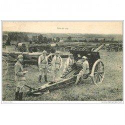 carte postale ancienne CANON et OBUS. Pièce de 105 en 1922 Camp de Mailly Militaires et Soldats