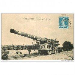 carte postale ancienne CANON SUR RAIL. Camp de Mailly Pièce de 340mm beceau 1922