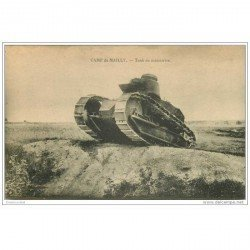 carte postale ancienne CHAR D'ASSAUT. Tanks en manoeuvre Camp de Mailly 1923