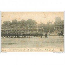 carte postale ancienne DEFILE A LONGCHAMP 1913. Les Tirailleurs Sénégalais. Armée et Militaires