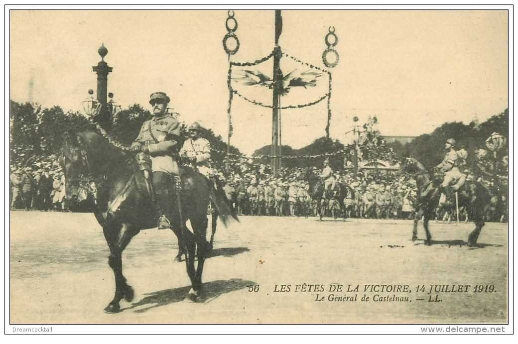 carte postale ancienne FETES VICTOIRE 1919. Général De Castelnau. Armée et Militaires