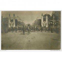 carte postale ancienne FETES VICTOIRE 1919. L'Etat Major aux Champs-Elysées Armée et Militaires