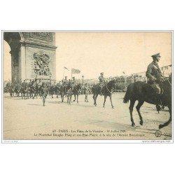 carte postale ancienne FETES VICTOIRE 1919. Maréchal Douglas Haig Armée Britannique. Armée et Militaires