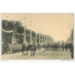 carte postale ancienne FETES VICTOIRE 1919. Maréchaux Joffre et Foch Champs Elysées. Armée et Militaires