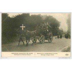 carte postale ancienne GUERRE 1914-18. Ambulance de blessés Forêt de Laigue