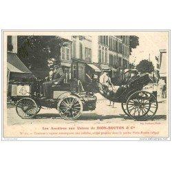 carte postale ancienne TRANSPORTS. Les Ancêtres Usines Dion-Bouton à Puteaux.