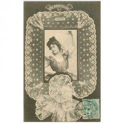 carte postale ancienne BERGERET illustrateur les Dentelles. 36 Valencienne 1903 Valence