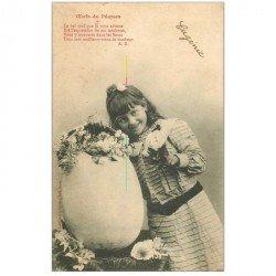 carte postale ancienne BERGERET Illustrateur. Eugénie et les Oeufs de Pques 1904