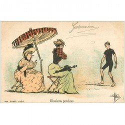 carte postale ancienne Carte Postale Fantaisie Illustrateur GUILLAUME Timbre 1 centime Illusions perdues...