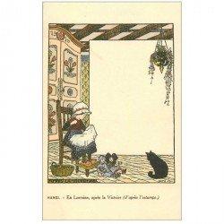 carte postale ancienne Carte Postale Fantaisie Illustrateur HANSI en Lorraine après la Victoire...