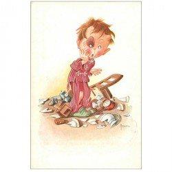 carte postale ancienne Carte Postale Fantaisie Illustrateur MONJARDIN après une scène de ménage...