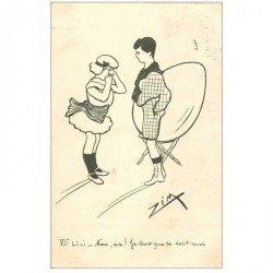 carte postale ancienne Carte Postale Fantaisie Illustrateur ZIM Lili : na je veux que ce soit moi !... 1903