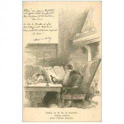 carte postale ancienne Gravure de Sachy artiste Peintre pour Album Mariani. Mephisto ou le Diable