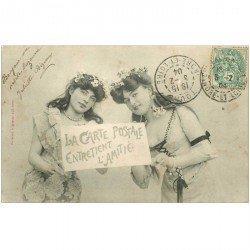 carte postale ancienne Illustrateur BERGERET. La Carte Postale entretient l'Amitié 1904