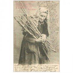 carte postale ancienne ILLUSTRATEUR BERGERET. Les 4 Saisons. L'Hiver 1903