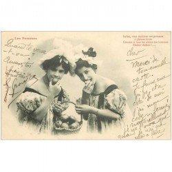 carte postale ancienne Illustrateur BERGERET. Les Pommes 1904