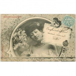carte postale ancienne Illustrateur BERGERET. Minois charmants vers 1904