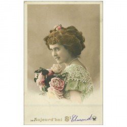 carte postale ancienne PRENOMS. Saint Edmond 1911