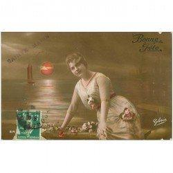 carte postale ancienne PRENOMS. Sainte Marie vers 1910