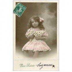 carte postale ancienne PRENOMS. Sainte Suzanne 1910