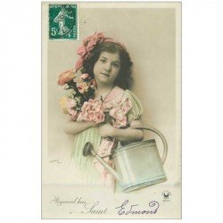 carte postale ancienne SAINT EDMOND. Collection Croissant 1910