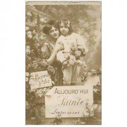 carte postale ancienne SAINTE SUZANNE 1915 découpe grossière