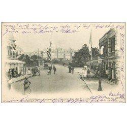 carte postale ancienne CABOURG 14. Grand Hôtel rue de la Mer 1903
