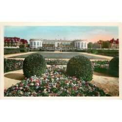 carte postale ancienne 14 DEAUVILLE. Casino et Jardins. Real Photo