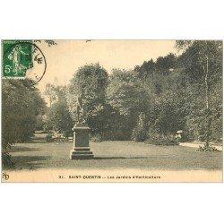 carte postale ancienne 02 SAINT-QUENTIN. Les Jardins d'Horticulture 1912