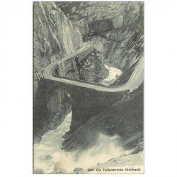 SUISSE. Die Teufelsbrücke Gotthard