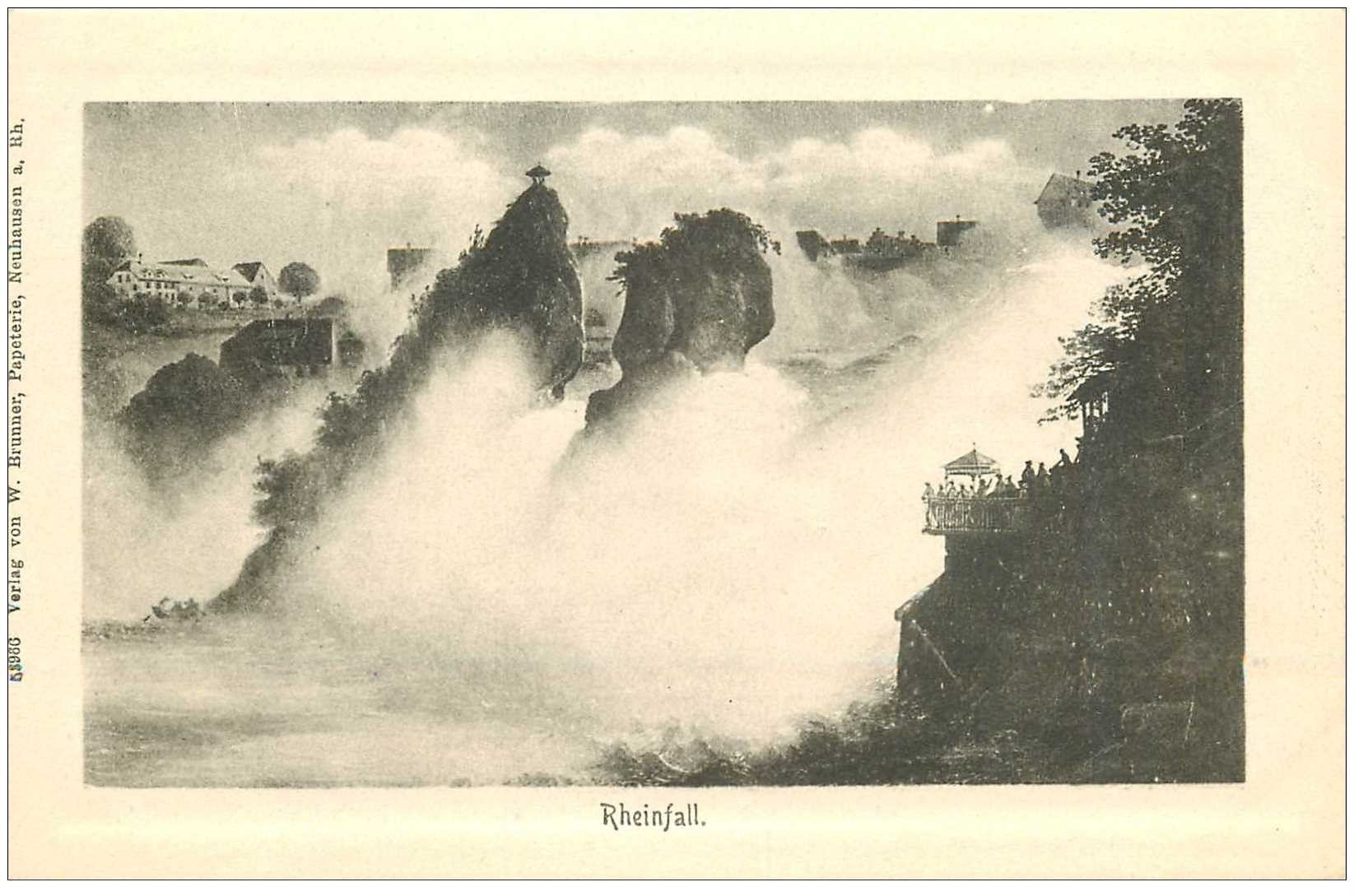 Carte postale ancienne SUISSE. Rheinfall vers 1900