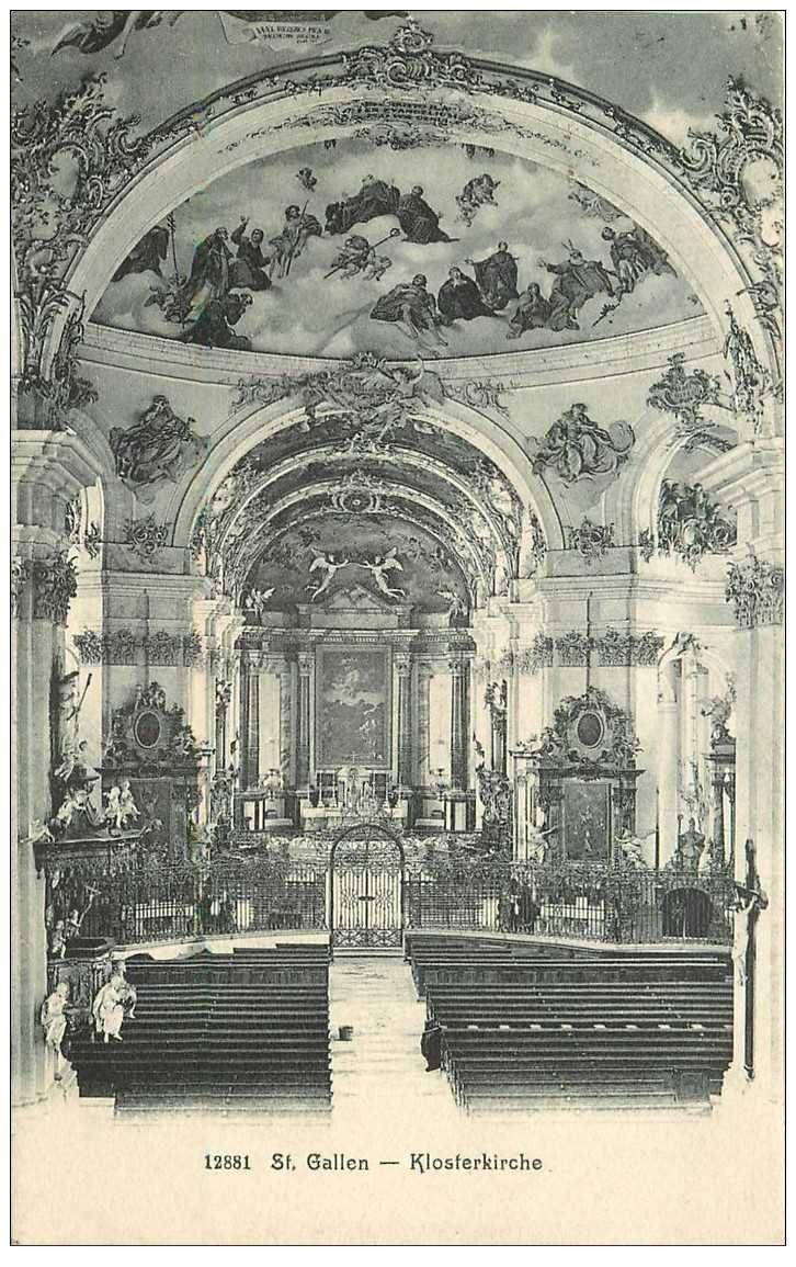 SUISSE. Saint Gallen. Klosterkirche 1907