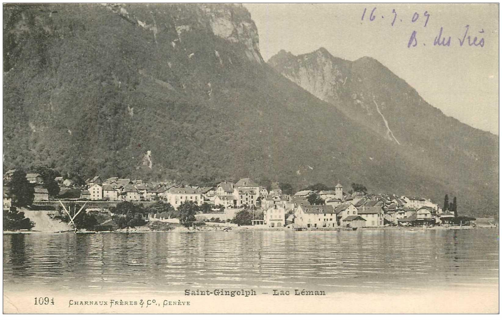 SUISSE. Saint Gingolph. Lac Léman 1907