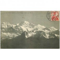 SUISSE. Vevey le Mont Blanc vu des Pléïades 1913