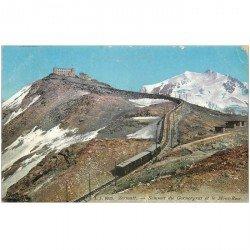 SUISSE. Zermatt Sommet du Gonergrat et Mont Rose Train à crémaillière 1912