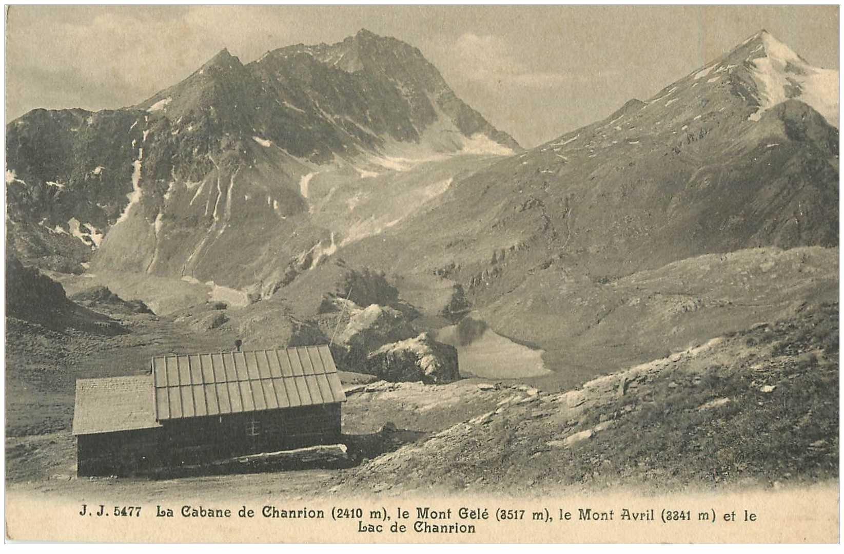 SUISSE. La Cabane et Lac de Chanrion Monts Gelé et Avril